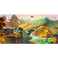 Wallpaper Wall Decoration The Living Room Wallpaper Murals European Wallpaper Mural Paintings of The Abstract Wallpaper Van Gogh Painting Impression Sunrise 3D Walls 400Cmx280Cm