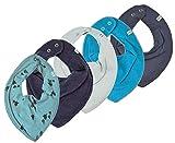 Pippi 4er Set ~ zur Auswahl ~ Baby Dreieckstuch Halstuch 4 Stück Organic Cotton + 1 GRATIS Tuch ~ 5er Pack (steingrau-türkis-metal-navy& Bäume auf stone blue)