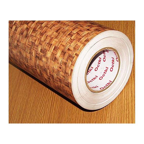 Fusion Graphix Self Adhesive Wood Grain Wallpaper Waterproof Old Furniture Vinyl Stickers Wooden Door Wardrobe Desktop PVC Wall Papers w-12
