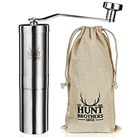 Hunt Brothers Coffee Grinder | Adjustable Coarseness | Best Conical Burr for Precision Brewing | Consistent Grind 51Zqwrrt5oL