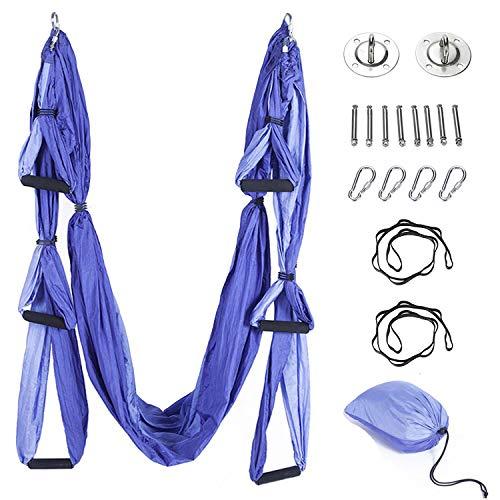 Brinny Aerial Yoga Schaukel Swing Equipment Ultra Starke Antigravity Yoga Hängematte/Trapez/Sling Für Antigravity Yoga Inversion Übungen - 2 Extensions Straps 2 Hängeplatte Enthalten