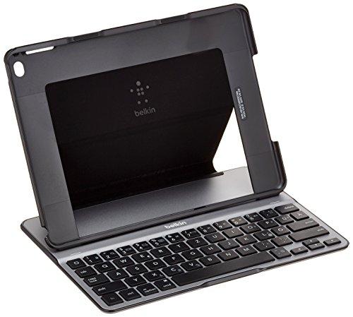 Belkin F5L178DEBLK QODE Ultimate Bluetooth Tastatur mit Hülle (geeignet für das iPad Air 2) schwarz - Air 2.0 Kurz