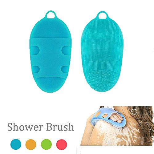 XinFang Silicone Bath Body Brush Suave piel antibacteriana SPA Multi-Use Face Shower Limpiador exfoliante para pieles sensibles todo tipo de Masaje para bebés y adultos (Body Bath Brush)