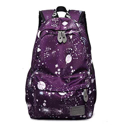 LILIHOT Zufälliger Rucksack der großen Kapazität des Sternenhimmelmuster-Rucksacks der Schultertasche Damen Handtaschen groß Taschen Leder Moderne Damen Gross Schultertasche Frauen Umhängetasche -