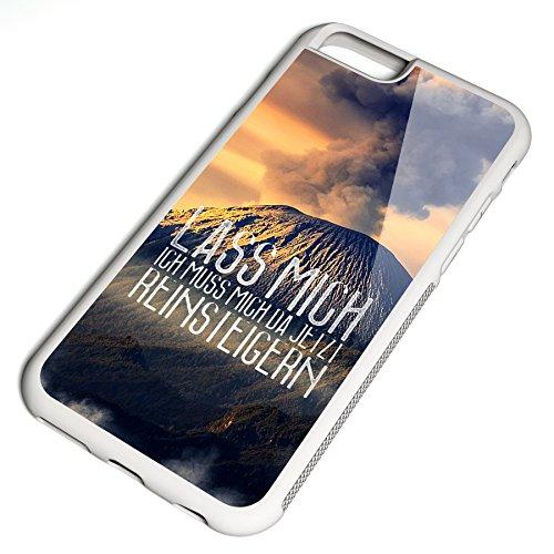 Smartcover Case Lass mich reinsteigern z.B. für Iphone 5 / 5S, Iphone 6 / 6S, Samsung S6 und S6 EDGE mit griffigem Gummirand und coolem Print, Smartphone Hülle:Samsung S6 EDGE weiss Iphone 6 / 6S weiss