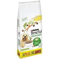 Beneful Purina Hundetrockenfutter Wohlfühlgewicht (mit Huhn, Gartengemüse und Vitaminen) 12+3kg Overfill Sack