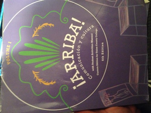 Arriba: Comunicacion Y Cultura, Vol.1, 6th Edition by Susan M. Bacon, Holly J. Nibert Eduardo Zayas-Bazan (2012-08-02)