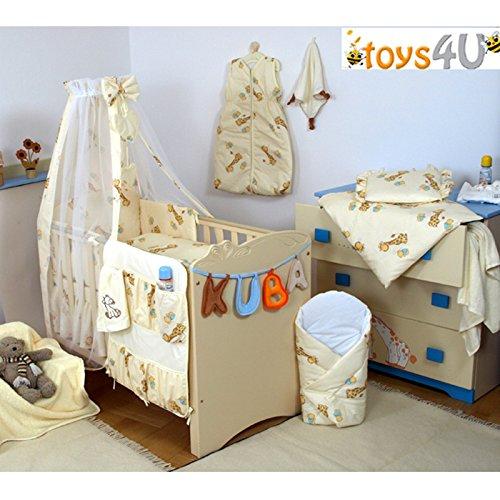 10tlg. Babybettwäsche Set, 135x100cm, für 140x70cm Bett D4