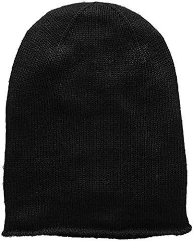 PIECES PCROSE OVERSIZE CASHMERE HOOD NOOS, Bonnet Femme, Noir (Black), Taille unique