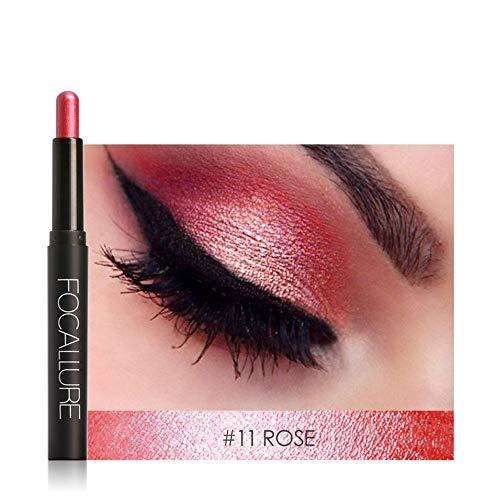 Eyeshadow Pen, Lidschattenpinsel Naked Wasserdichte 12Farben Lidschatten Stift liegend Seidenraupe Eyeliner Stick Make-up Kosmetik Werkzeug Von KUKICAT