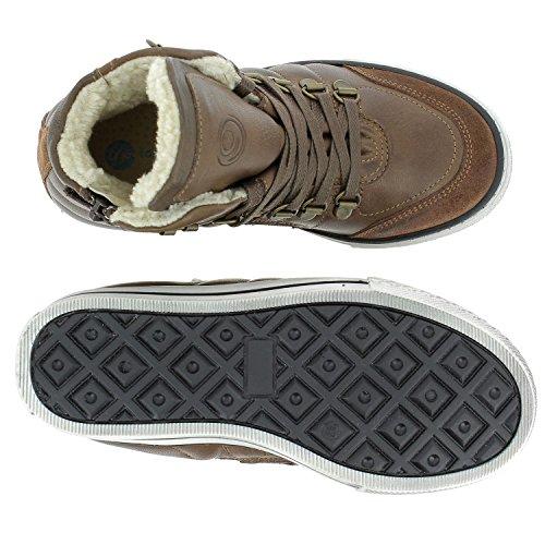 giggs Wool Schuhe Kinder Echtleder-Sneaker Boots Braun 125519 700 Braun