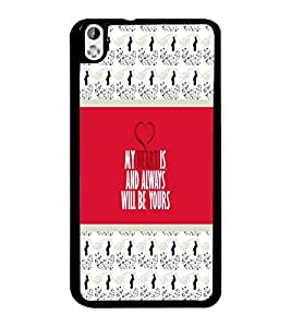 PrintDhaba Quote D-3774 Back Case Cover for HTC DESIRE 816 (Multi-Coloured)