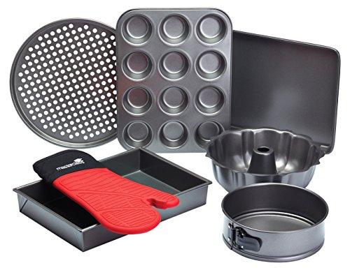 Master Class - Set di utensili antiaderenti per cottura al forno, 7 pezzi