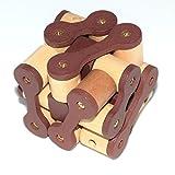 JsaCherry Denksportaufgaben Cube - Holzspielzeug - 3D Puzzle - Knobelspiel - Geduldspiel aus Holz #1