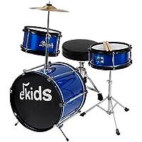 Ekids DSJ90B Schlagzeug, für Kinder, komplett, Blau