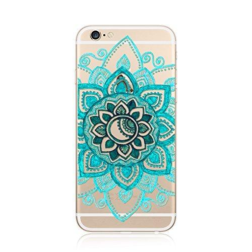Coque iPhone 6 Plus 6s Plus Housse étui-Case Transparent Liquid Crystal en TPU Silicone Clair,Protection Ultra Mince Premium,Coque Prime pour iPhone 6 Plus 6s Plus-Mandala-New-style 24 23