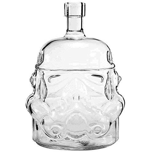 Transparent Kreative Star Wars Decanter Storm Trooper Weckt Kopfhörer Karaffe Glas Schnitt Schnitt hitzebeständig für Whisky, Bier, brandy, Likör, Saft und Wein Rot