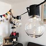 5,5M Lichterketten, String Licht mit 20 Warmweiß LED Lichter, Klar Globe Glühbirnen, Sicherheit Verwenden für Startseite, Patio, Hochzeit, Cafe, Garten, Weihnachten, Partei Dekoration (Warme Weiß)