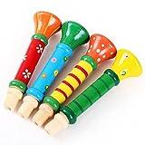 Yogogo Multi-Color-Babykinder aus Holz Horn Hooter Trompete Instrumentalmusik Spielzeug