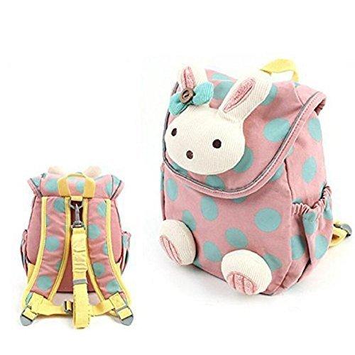 W. Air Baby Rucksack, Cute Kaninchen Antiverlust Baby Rucksack Kleinkind Kids Girl Boy Schule Tasche mit Walking Zügel Leine für Kindergarten (Babys Rucksack)