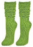 Trachtensocken knielang Grün Gr. 35-38 - Farbige Strümpfe zu Dirndl und Lederhose