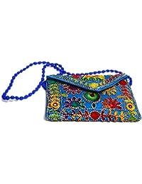 Rajasthani Handicraft Embroidered Clutch Sling Bag Clutch Bag - B07F1VRHV9