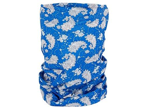 Foulard fazzoletto da collo sciarpa funzionale multiuso scaldacollo tubolare leggero e morbido estate primavera autunno inverno loop anello ragazze colorati stola accessorio moderno lifestyle, Multituch MF-174-221:MF-200 Paisley blu