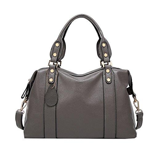 Yy.f Cuoio Impresso Nuovo Borsa A Tracolla Moda Mamma Bag Messenger Borse Estrinseca La Moda Intrinseca E Pratico Multicolore Grey