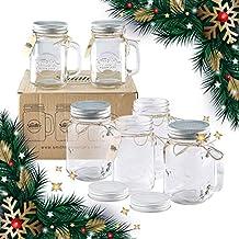 Smith Mason tarros de 6 x, Mason Jar tazas con tapa de rosca con junta