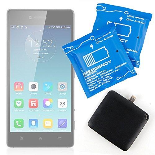 DURAGADGET Batteria di Emergenza USA E Getta Compatibile con cellulari Lenovo Vibe Shot, Vibe X2 PRO, Vibe X3 c78, Vibe X3,/Motorola Moto E3 (3rd gen/2016),Vibe S1 Lite, Vibe S1