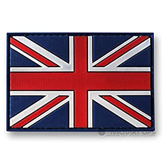 Alpha Tactical VELCRO PANEL RUBBER RED WHITE AND BLUE UNION JACK PATCH
