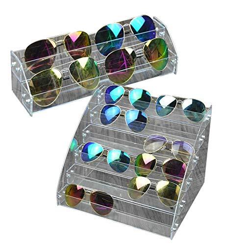 DEWIN Sonnenbrillen Display - Acryl Sonnenbrillen Organizer Multilayer Vitrine Tabletop Brillen Aufbewahrungsbox