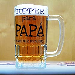 "JARRA DE CERVEZA ""Tupper para papá"""