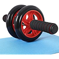 SONGMICS AB Roller AB Wheel Push Up con Cojín del Arrodillamiento SPU75R