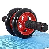 SONGMICS AB Roller Bauchtrainer AB Wheel für Fitness Bauchmuskeltraining Muskelaufbau Bauchroller für Frauen und Männer SPU75R