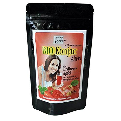 Gesund+Leben Konjac Slim Erdbeer-Apfel 125g (bio, teils roh, vegan)