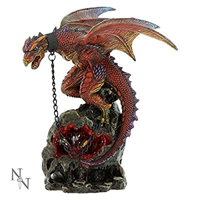 Nemesis Now Igantia Chained Dragon 21cm Figurine Ornament Statue Alator LED Range