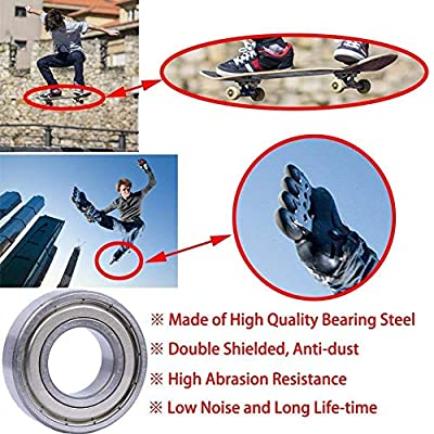CESHMD 20 Pack 608 ZZ Kugellager, 608zz Metall Double Shielded Miniatur Rillenkugellager (8mm x 22mm x 7mm) (20 Pack 608 ZZ)