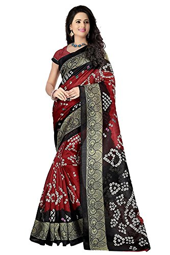 Women's Clothing Saree Today best offers buy online in Low Price Sale Designer Multi Color Art Silk Fabric Free Size Ladies Sari With Blouse Piece  available at amazon for Rs.275
