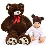 Pink Papaya Riesen-Teddy Bruno, 100cm XXL Plüschbär in braun – EIN XXL Teddybär zum Liebhaben Toys