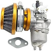 GOOFIT Tuning Vergaser mit Luftfilter für 2 Stroke 47cc 49cc Mini ATV Quad Dirt Pocket Bike Gelb