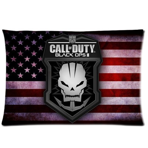 HipsterOne US Flag Call of Duty Black Ops 2 Logo Pillow Case Cover Custom Pillowcase (Standard 20*30 inches inch) Sam-19-144