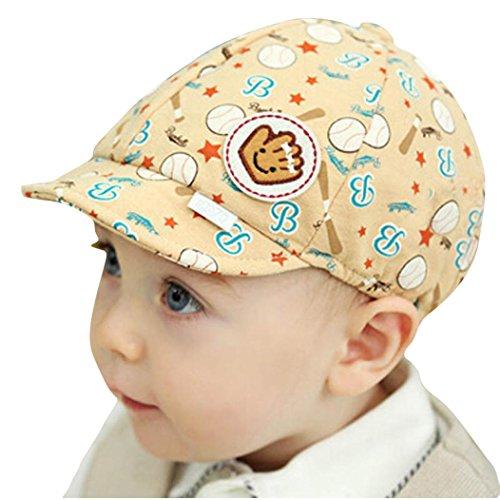 Evansamp Baby Mützen, Kid Toddler Infant Boy Girl Lovely Baumwolle Hat Schirmmütze Baskenmütze Baseball Cap Einheitsgröße beige