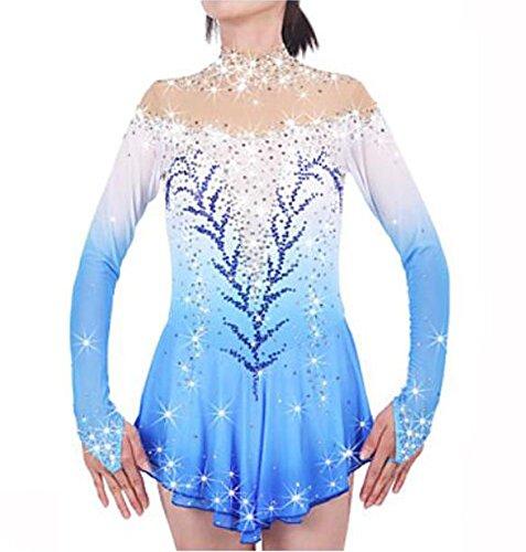 XINYUANJIAFANG scbrr Über die Schlittschuhe reichende Strumpfhosen fürs Eiskunstlaufen Damen Mädchen Eiskunstlaufkleider Weiß Purpur Himmelblau Rot Dehnbar,...