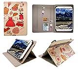 Sweet Tech Wortmann Terra Pad 1004 10.1 Zoll Tablet Paris Universal Wallet Schutzhülle Folio (10-11 Zoll)