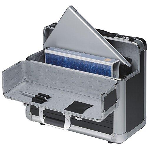 preisvergleich pilotenkoffer pilotentrolley alu aluminium schwarz mit willbilliger. Black Bedroom Furniture Sets. Home Design Ideas