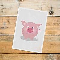 Postkarte Dreamchen Kinderzimmer Deko Schwein