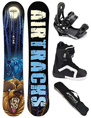 SNOWBOARD SET /PACK/ AIRTRACKS PLANCHE MIDNIGHT ROCKER WIDE+FIXATIONS+ CHAUSSURES DE SNOWBOARD+SB SAC/ NEUF