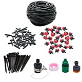 Watering Systems , JELEGAN Water Saving Micro Drip Irrigation Watering Automatic Kit For Plant Garden Hanging Baskets Pot Plants Flower Beds Borders Greenhouses * 25m