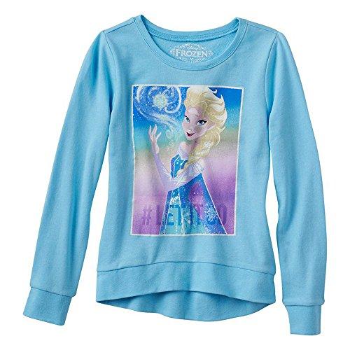 Disney Frozen Elsa Snow Queen Mädchen Lightweight Pullover Sweatshirt   XS (Queen Snow Frozen Elsa)